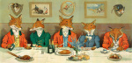 Mr Fox's Hunt Breakfast art print