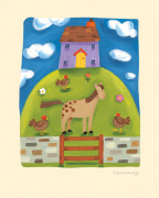 Purple Farmhouse art print
