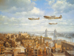 Spitfires Over London art print