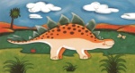 Steggy the Stegosaurus art print