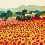Sunflower Sunset, Tuscany art print