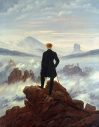 The Wanderer Above The Sea Of Clouds art print