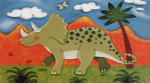Timmy the Triceratops art print
