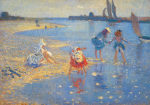 Walberswick: Children Paddling art print