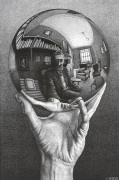 Hand with Reflecting Sphere art print