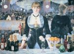 Bar at the Folies Bergere art print