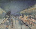 Boulevard Montmartre at Night, 1897 art print