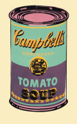 Campbell's Soup Can, 1965 (green & purple) art print