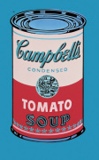 Campbell's Soup Can, 1965 (pink & red) art print
