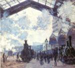 Detail from The Gare St Lazare, 1877 art print