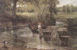 Detail from The Hay Wain, 1821 art print