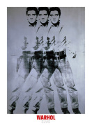 Elvis, 1963 (triple Elvis) art print