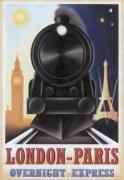 London-Paris Overnight Express art print