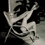 Marilyn, Poolside art print