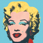 Marilyn 1967 Blue art print