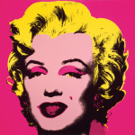 Marilyn Monroe, 1967 (hot pink) art print