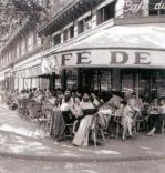 Outside the Cafe de Flore art print