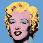 Shot Blue, Marilyn 1964 art print