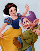 Snow White and Dopey - A Fairy Tale Celebration art print