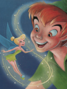 Tinker Bell and Peter Pan-A Touch of Magic art print