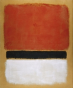 Untitled (Red, Black, White on Yellow), 1955 art print