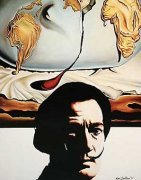 Hommage to Salvador Dali art print