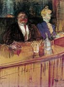 In the Bar: The Fat Proprietor and the Anaemic Cashier art print