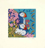 Puffins (handsigned etching) art print