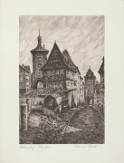 Rothenburg, R�dertor art print
