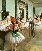 The Dancing Class, c.1873 art print