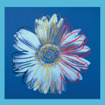 Daisy, c.1982 (Blue on Blue) art print