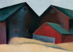 Ends of Barns, 1922 art print