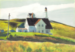 Hill and Houses, Cape Elizabeth, Maine, 1927 art print
