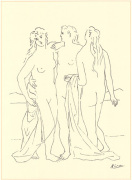 Three Nudes (Silkscreen print) art print