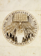 A Design For The Great Seal Of England Under The Commonwealth, 1649 giclee art print