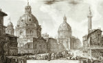 A View Of Rome With The Two Churches Of Santa Maria Di Loreto And The Church Of Our Lady giclee art print