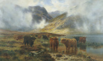 By Loch Treachlan, Glencoe, Morning Mists, 1907 giclee art print