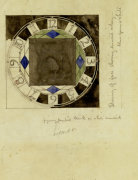 Design For Clock Face, 1917, For W.J. Bassett-Lowke, Esq. giclee art print