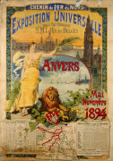 exposition universalle  anvers  1894 giclee art print