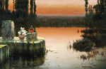 Flooded Ruins At Sunset giclee art print