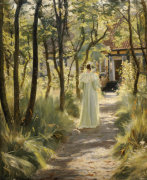 Marie In The Garden, 1895 giclee art print