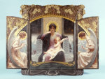 Mother And Child Enthroned With Angels. Triptych, 1903. giclee art print