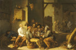 Peasants Smoking And Drinking In A Barn With Devils Dancing Beyond, 1635 giclee art print