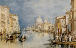 The Grand Canal, Venice, With Gondolas And Figures In The Foreground giclee art print