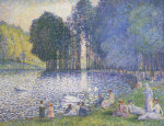 The Lake In The Bois De Boulogne, Circa 1899 giclee art print