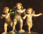 Three Cherubs. Follower Of Bernandino Luini (1475-1532) giclee art print
