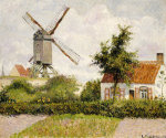 windmill at knock  belgium  1894 giclee art print