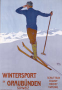 Wintersport In Graubunden, 1906 giclee art print