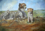 Cheetah and MToto Child giclee art print