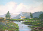 Connemara Cottage giclee art print
